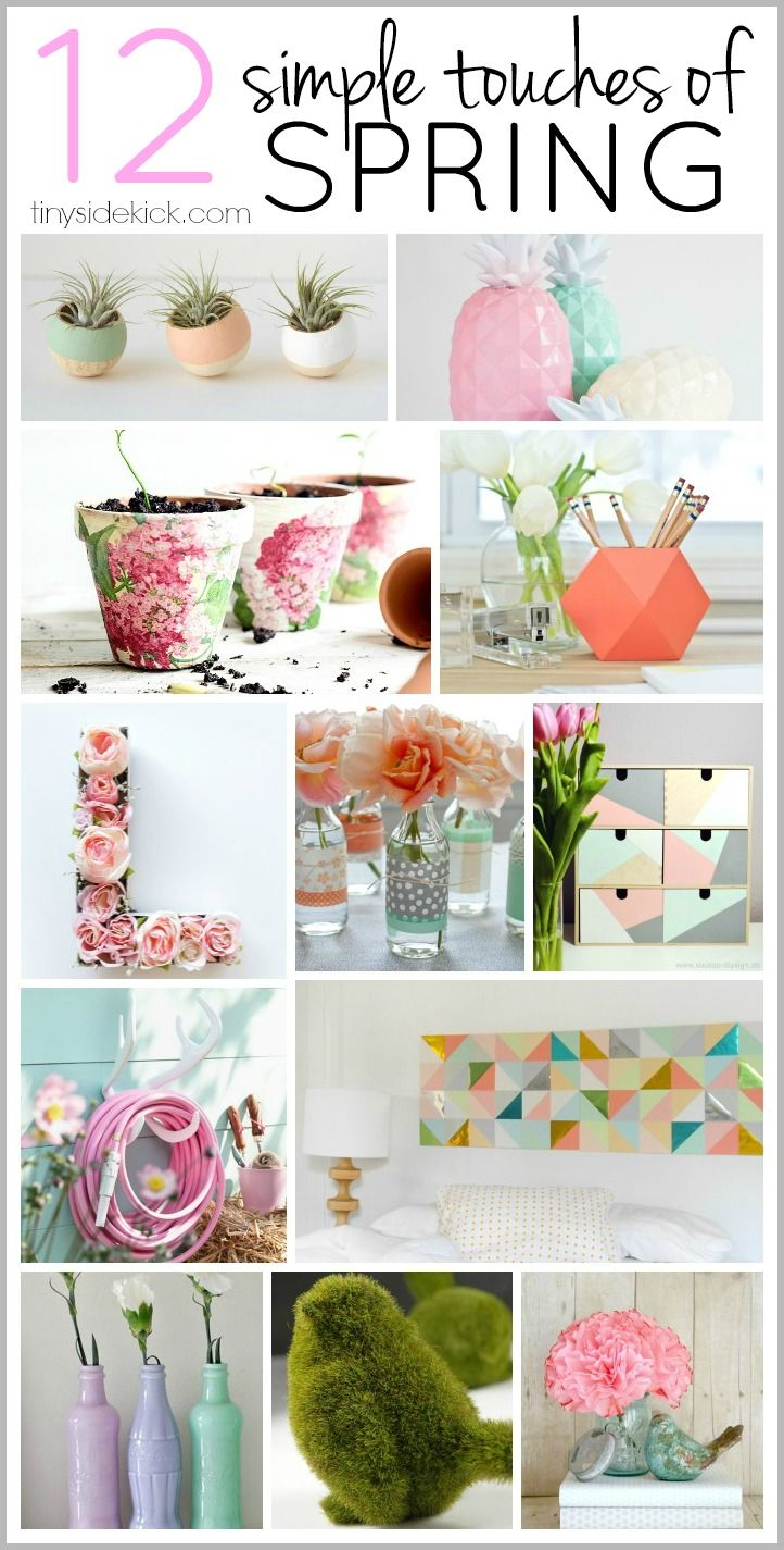 A list of really simple ways to add a pop of spring to my home decor! The colors are amazing and all of the projects simple enough for me to actually do.