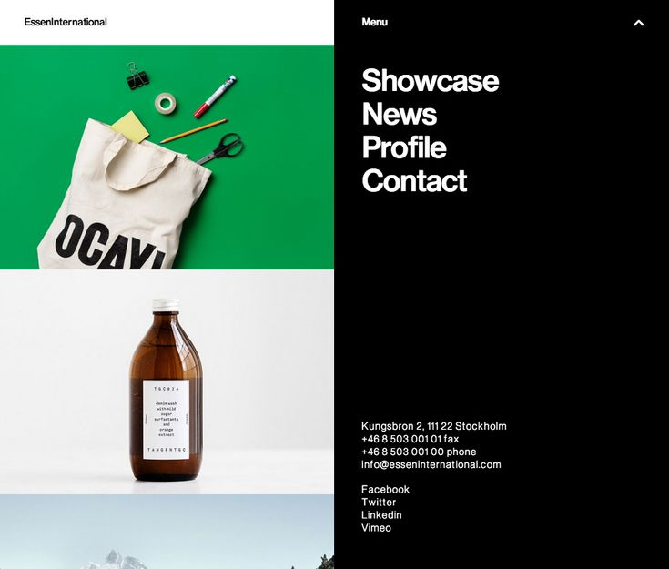 Nice typography, built on Wordpress.  http://esseninternational.com