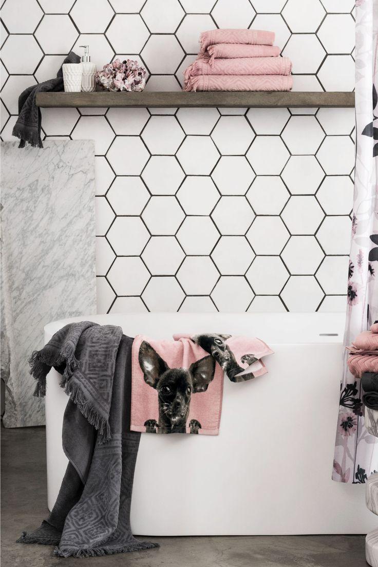 Банное полотенце - Темно-серый - HOME | H&M RU