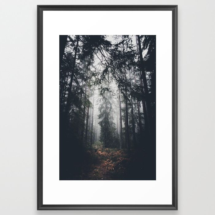 Dark paths Framed Art Print by HappyMelvin | Society6