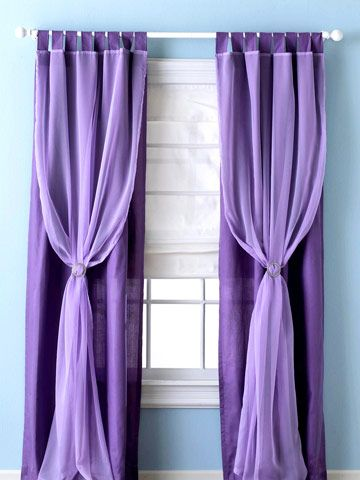 I'm not a big curtain fan, and the only type in my house are half assed sheers. Because sheers are the only type I like. So, these have serious potential. Not in purple though.