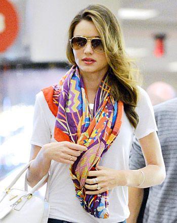 Miranda Kerr's Stylist: How to Wear This Season's Chic Scarves