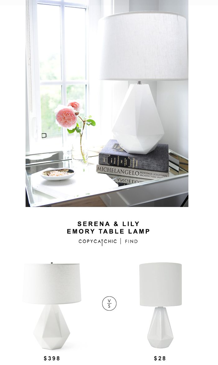 Table lamp vs desk lamp - Serena Lily Emory Table Lamp For 398 Vs Silver Sprints White Geo Table Lamp For