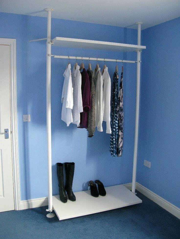 details about ikea stolmen wardrobe storage system wardrobes wardrobe storage and storage. Black Bedroom Furniture Sets. Home Design Ideas