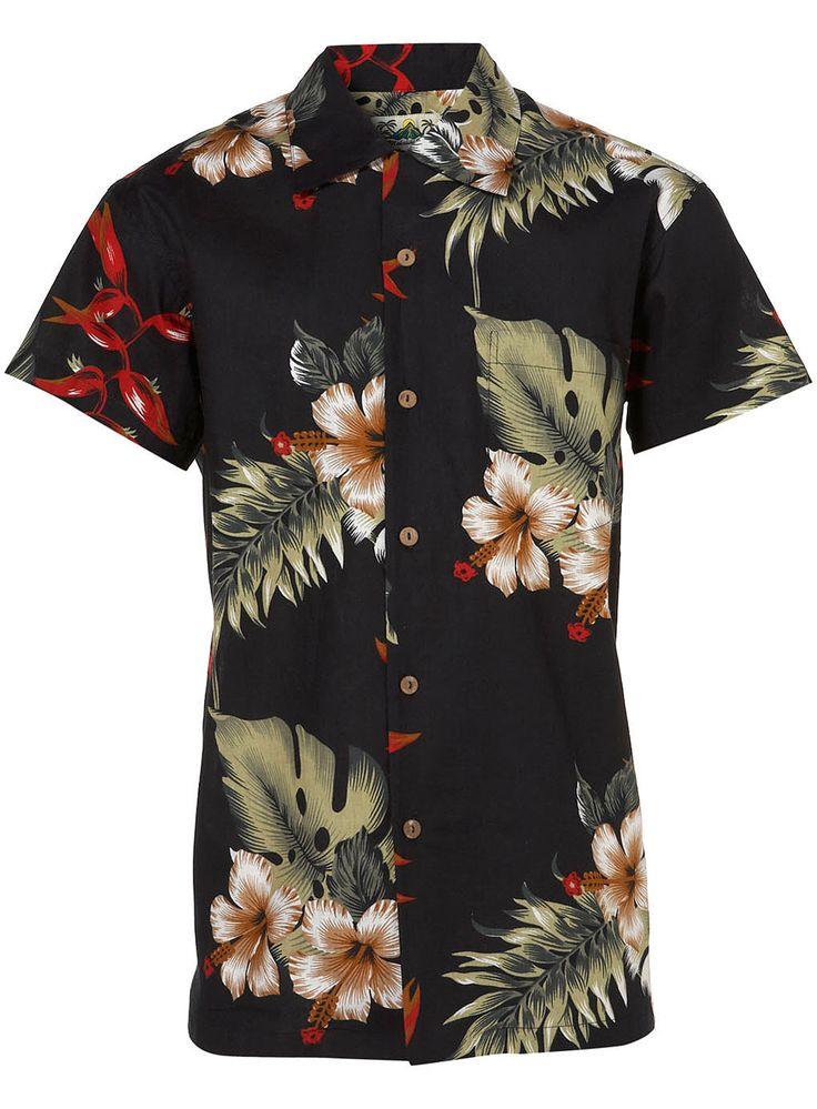 Grand Menswear Retro Hawaiian Shirt Large K2H44i3maH
