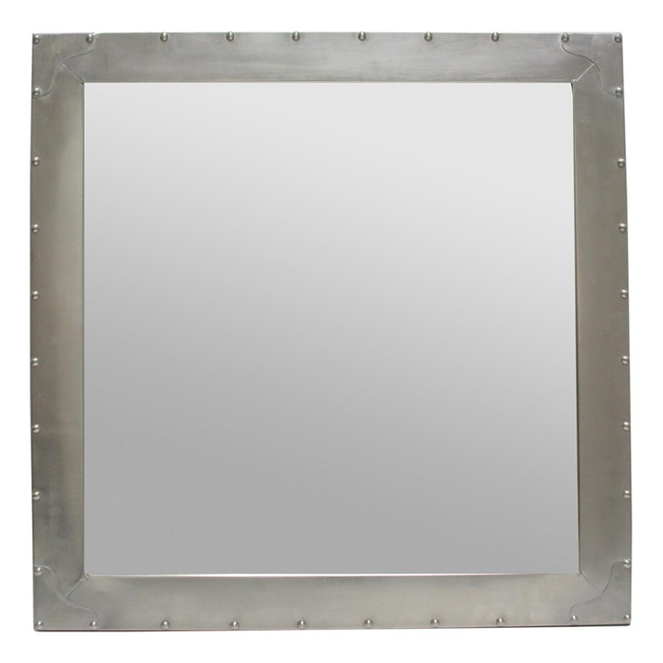 Metal Industrial Mirror With Rivets Reflect Your Style Pinterest Industrial Mirrors
