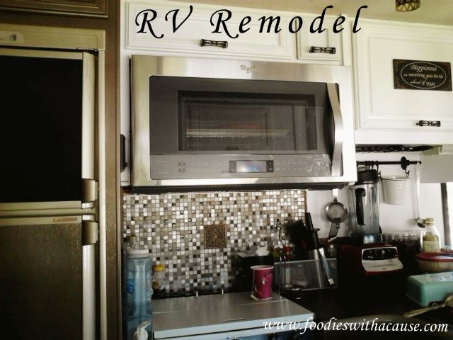 -We glammed up our boring old school Fleetwood RV and made it homey, chic and stylish- Check it out! www.foodieswithacause.com #RVremodel #fulltimeRVing   -- RV REMODEL BEFORE and After We also have a FULL size oven in our RV now.