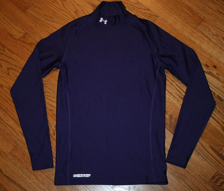 Under armour cold gear compression mock shirt men 39 s large for Under armour cold gear shirt mens