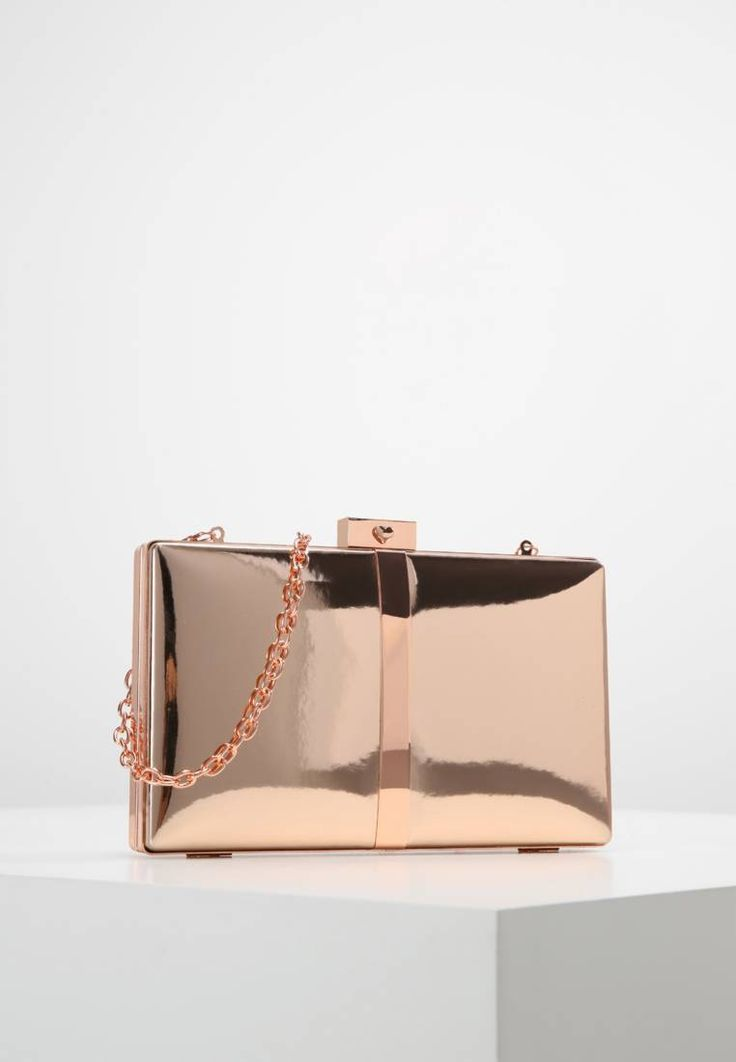 """ALDO. PEARSON - Clutch - rose gold. Fastening:Snap fastener. Compartments:mobile phone pocket. length:8.0 """" (Size One Size). width:1.0 """" (Size One Size). Lining:textile. carrying handle:22.0 """" (Size One Size). Fabric:Synthetic leathe..."""