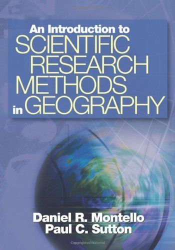 An Introduction to Scientific Research Methods in Geography by Daniel R. Montello. $58.04. Edition - 1. Publisher: SAGE Publications, Inc; 1 edition (March 6, 2006). Publication: March 6, 2006. Author: Daniel R. Montello