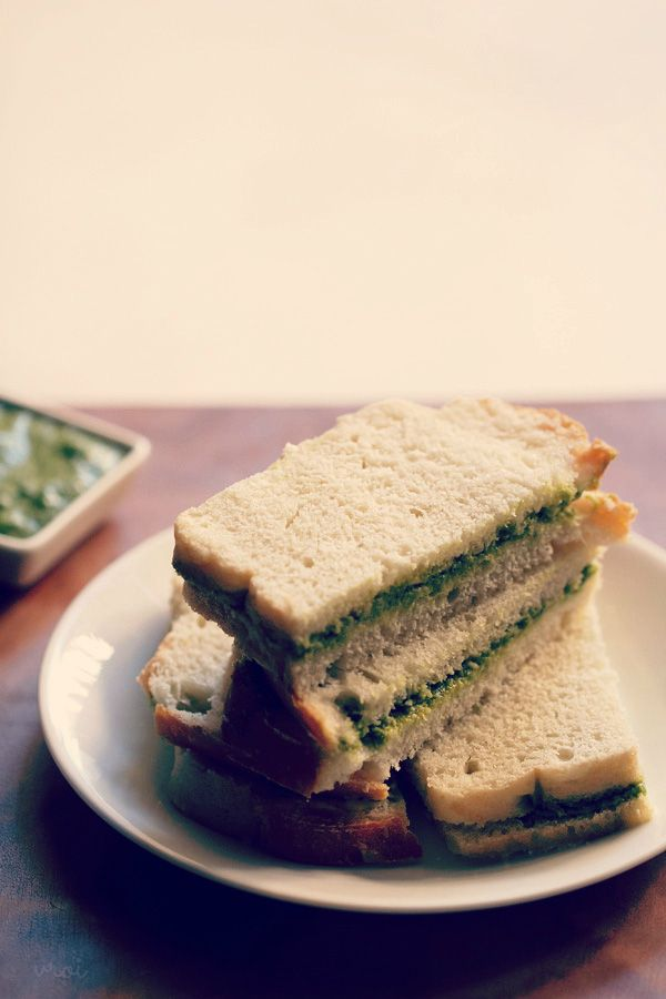 chutney sandwich recipe, how to make chutney sandwich recipe