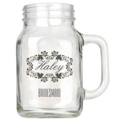 CUSTOMIZED BRIDESMAID 20 OZ MASON JAR - will you be my bridesmaid gifts  wedding bride bridal