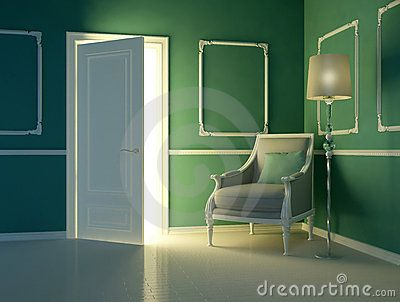 Classic Green Interior,  Luxury Apartment - Download From Over 56 Million High Quality Stock Photos, Images, Vectors. Sign up for FREE today. Image: 22991125