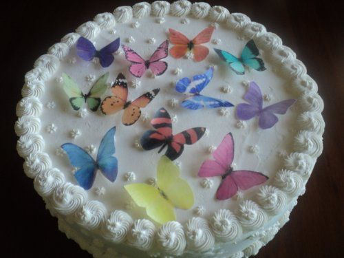PERFECT FOR WEDDING CAKES & CUPCAKES LARGE ASSORTED MULTICOLORED Set of 12 Edible Butterflies - Cake and Cupcake Toppers, Decorations null,http://www.amazon.com/dp/B00K0KVA3G/ref=cm_sw_r_pi_dp_YmIBtb096Y0GJRV3