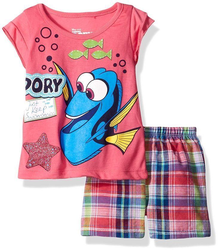 Disney Girls 2 Piece Finding Dory Short Set