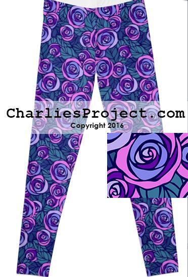 Belle Purple Rose beauty & the beast disney leggings