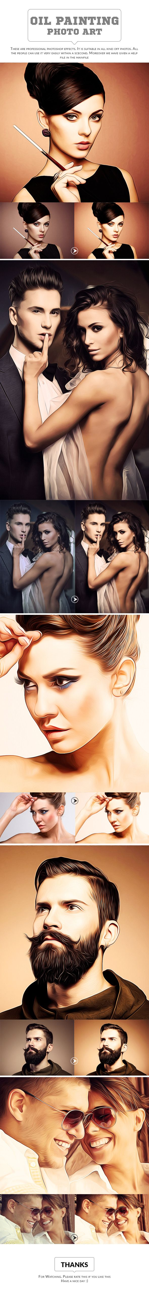 Oil Painting Art - Photo Effects Actions #photoshop #action