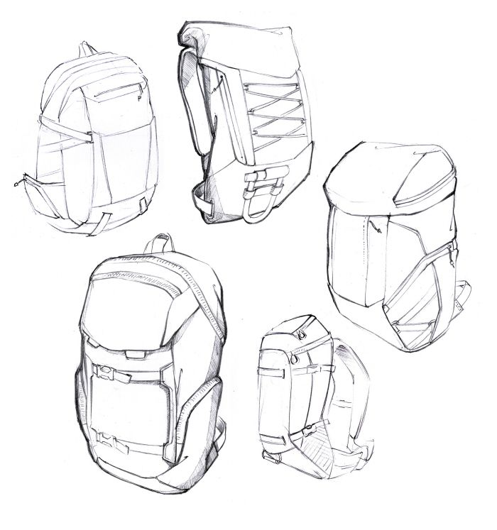 Backpack Sketches by Daniel Valsesia at Coroflot.com