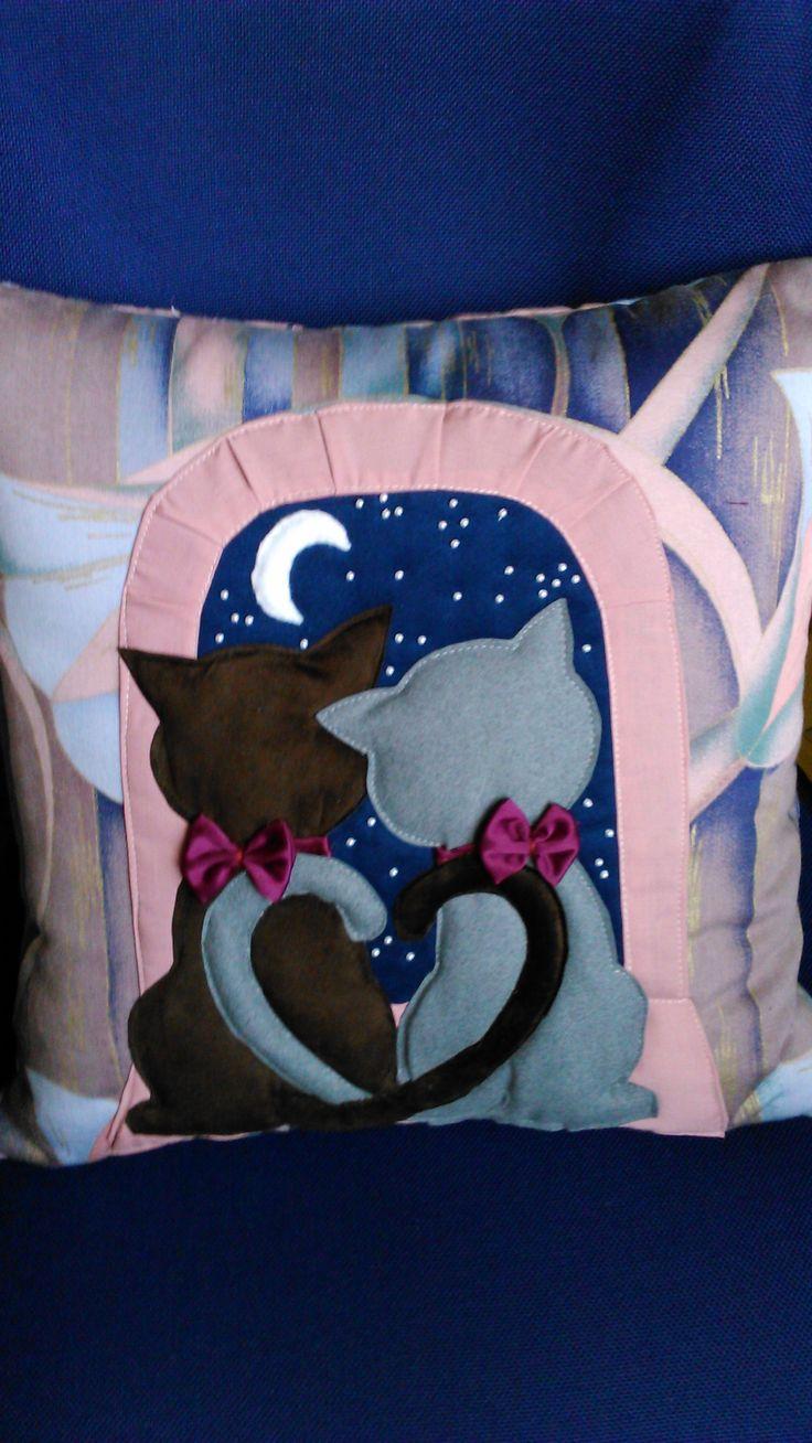 Romantic cushion. Handmade by Alina Wodzińska