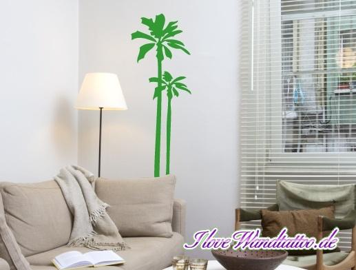 eine Palme als Wandtattoo