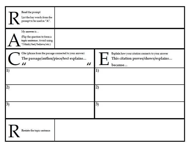 ace method for constructed response practice 5th