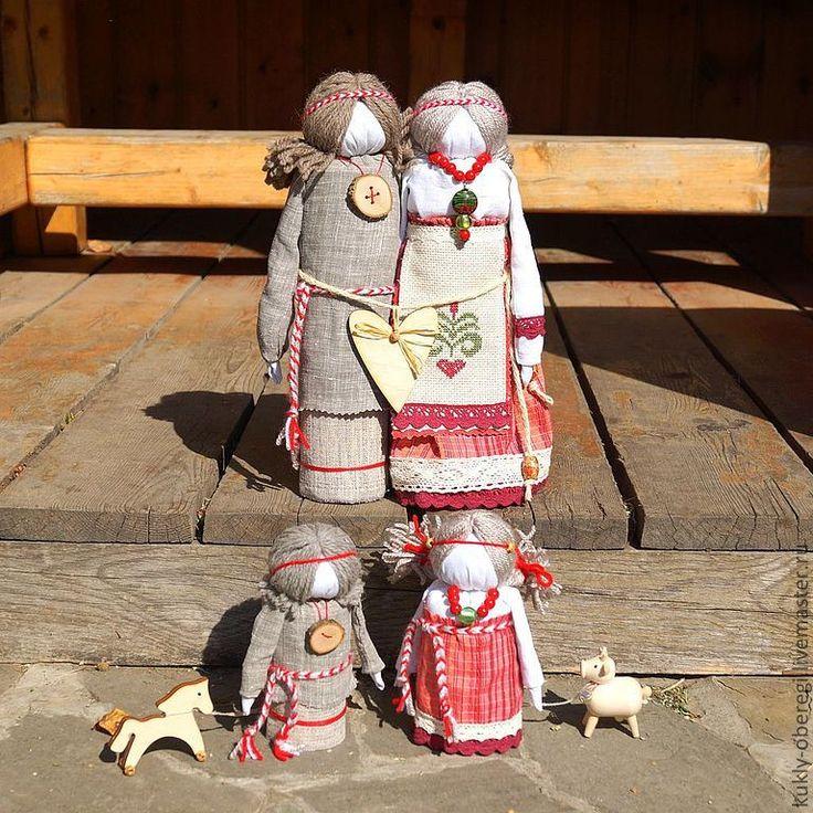 """Купить """"Крепкая семья"""" по мотивам народной куклы - кукла ручной работы, народная кукла, семья"""