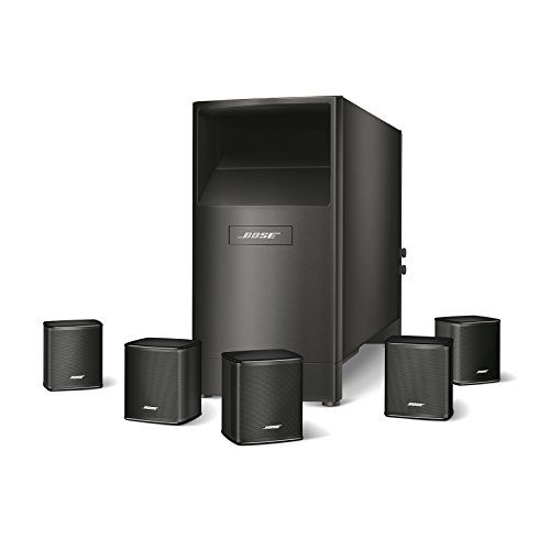 Bose Acoustimass 6 Series V Home Theater Speaker System (Black) - The Acoustimass 6 Series V home theater speaker system delivers theater-like 5.1 surround sound. The small Virtually Invisible Series II speakers have been redesigned with a slimmer profile and can be mounted flush to the wall, so they better match flat-panel TVs. The Acoustimass module provides ...
