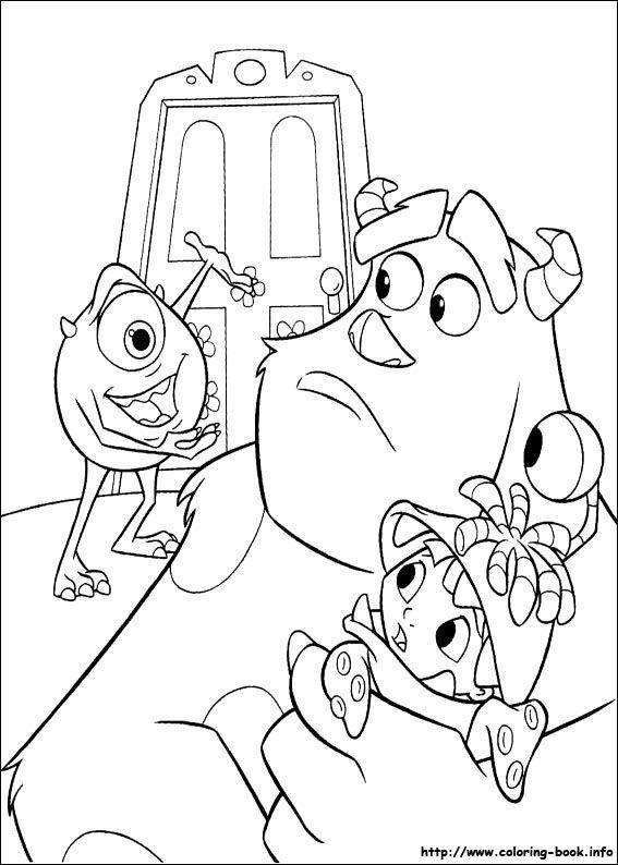 540 best monster inc. images on pinterest | monster university ... - Space Jam Monstars Coloring Pages