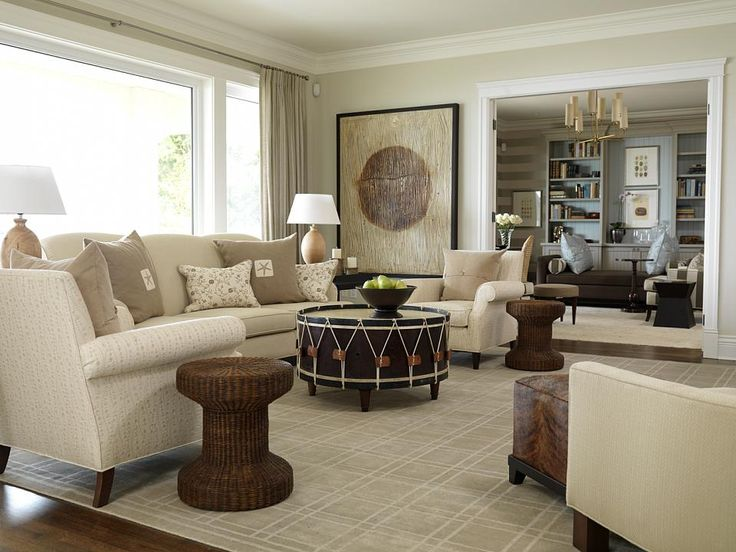 West Coast Classic Family Room | Sarah Richardson Design. I Love The Drum  Coffee Table Part 32