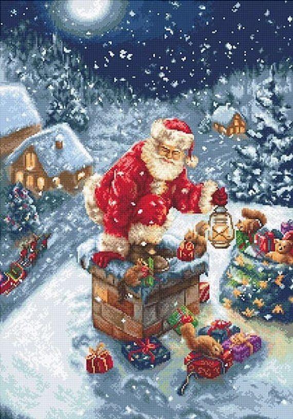 5d full drill diamond art painting square cross stitch Christmas Santa Claus new