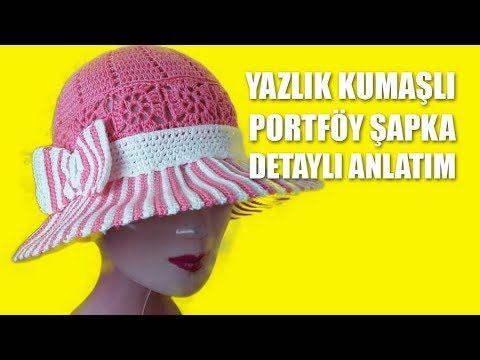 Hasır İple Yazlık Şapka Yapılışı Türkçe Videolu