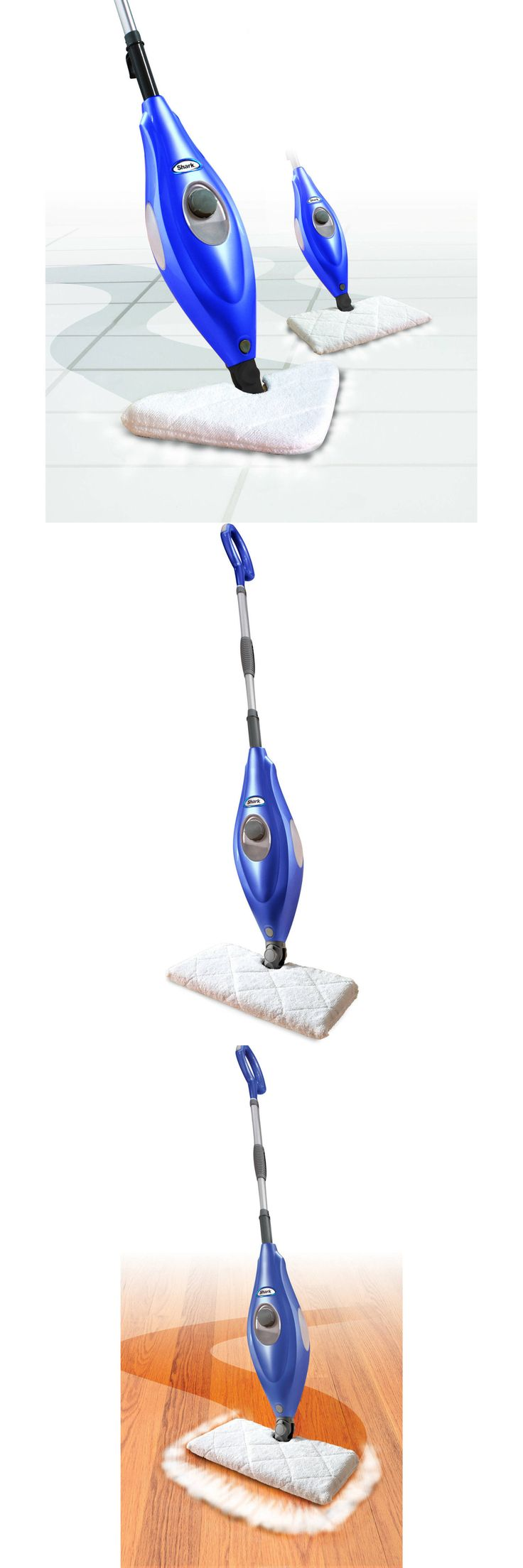Mops and Brooms 20607: Shark Deluxe Steam Pocket Mop And Multi Surface Floor Cleaner, Blue | S3501 -> BUY IT NOW ONLY: $57 on eBay!