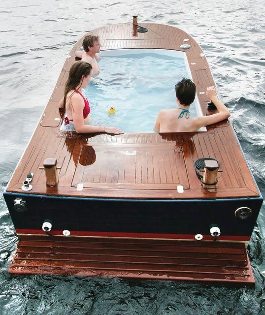 Pool in a Boat.