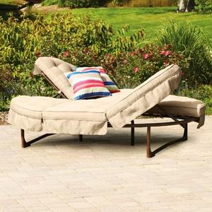 Mainstays Crossman Orbit Chaise Lounge Tan Seats 2 248