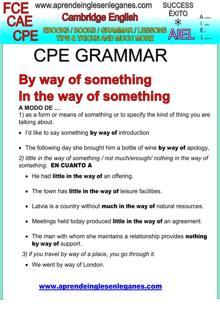 English idioms & Phrases BY WAY OF CAE CPE FCE Key word transformation gramática inglesa english grammar Key word transformation