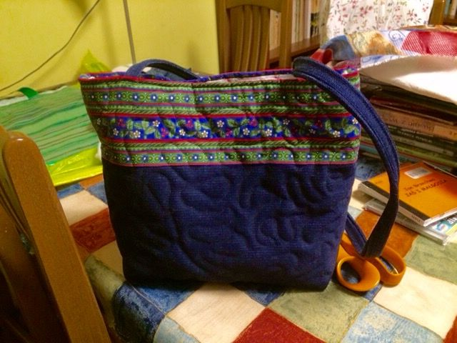 Quzzart. Beata Wieluńska. The bag sewn for my doughter.