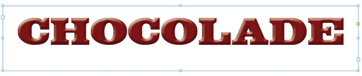 Chocoladeletters font
