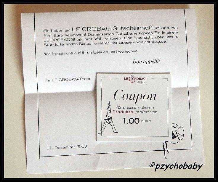 Ein Coupon Heft mit 5 x 1€ Sparcoupon gewonnen beim #Adventskalender von  #LeCrobag