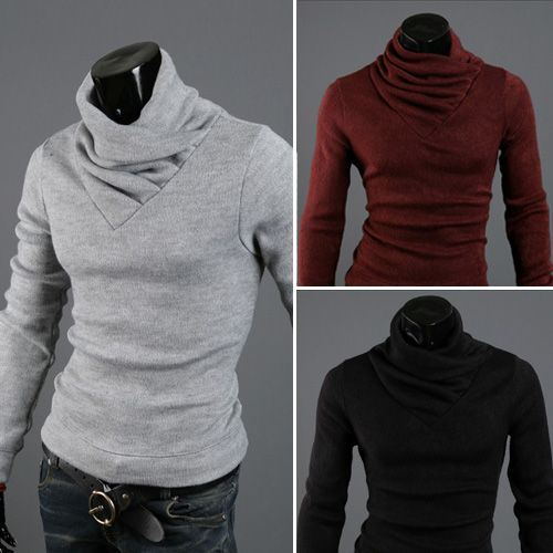 Freeshipping Jacket Collision Color Brand Men 's Sweater Hedging Slim MenTurtleneck Pull Homme Cotton Maglione Uomo Men Clothing