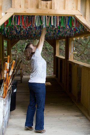 Hang a wish in the winds of prosperity. Foxfire Mountain Sevierville, TN (from Redcarpetmamas.com)