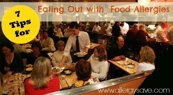 Eating out with severe food allergies http://www.allergysave.com/7-tips-for-eating-out-with-food-allergies-who-do-you-trust/
