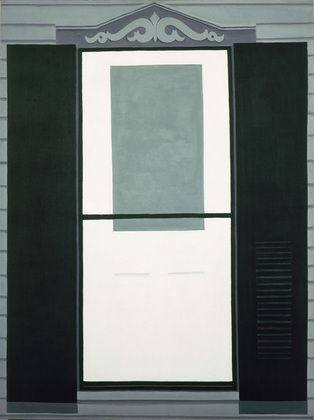 Farmhouse Window and Door: 1929 by Georgia O'Keeffe (Part of Exhibit: American Modern: Hopper to O'Keeffe - Museum of Modern Art, NYC) - Modernism/Precisionism/Expressionism
