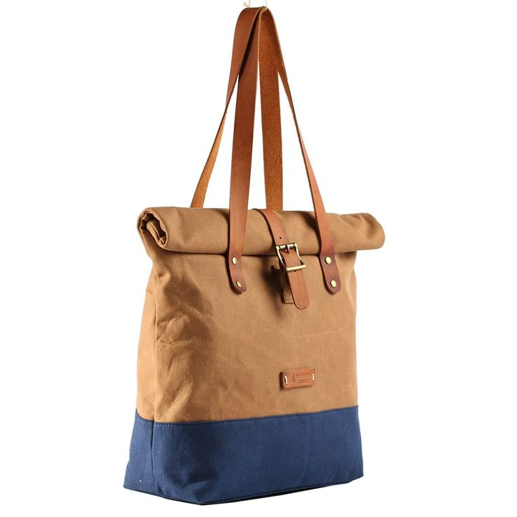 2016 Top sale fantastic waxed heavy canvas tote bag for women