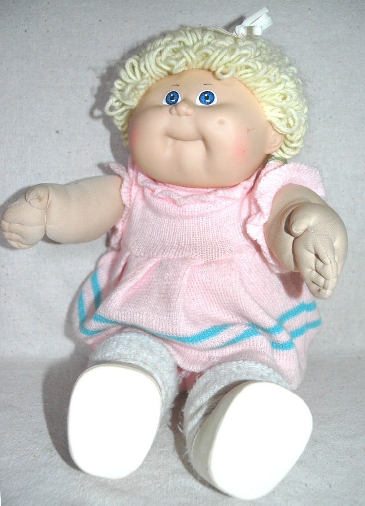 My first cabbage patch doll. Mine was named Rosie. One time her head fell off. :)