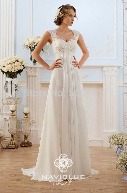 vestidos de novia baratos A Line Cheap wedding dress Made in China Lace Chiffon Beach Wedding Dress Floor Length Robe de mariage-in Wedding Dresses from Weddings & Events on Aliexpress.com | Alibaba Group