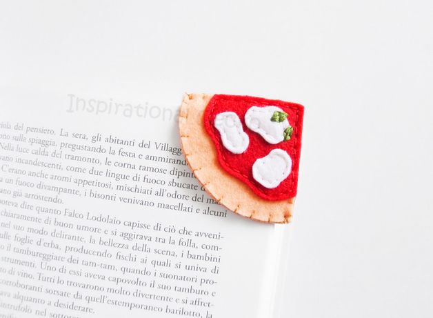Bookmarks – Felt pizza corner bookmark, school gift idea – a unique product by…