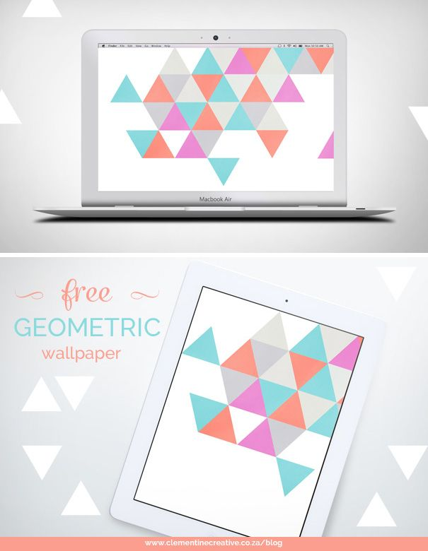 Free Textured Geometric Desktop Wallpaper