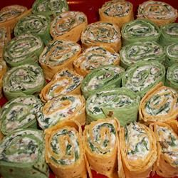 Spinach Roll-Ups Allrecipes.com... fabulous for camping or parties!
