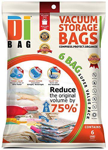 Nuova offerta in #cucina : DIBAG  6 Buste - sacchetti di immagazzinaggio di vuoto salvaspazio (13090 cm) .per l'abbigliamento Piumini Biancheria da letto cuscini tende