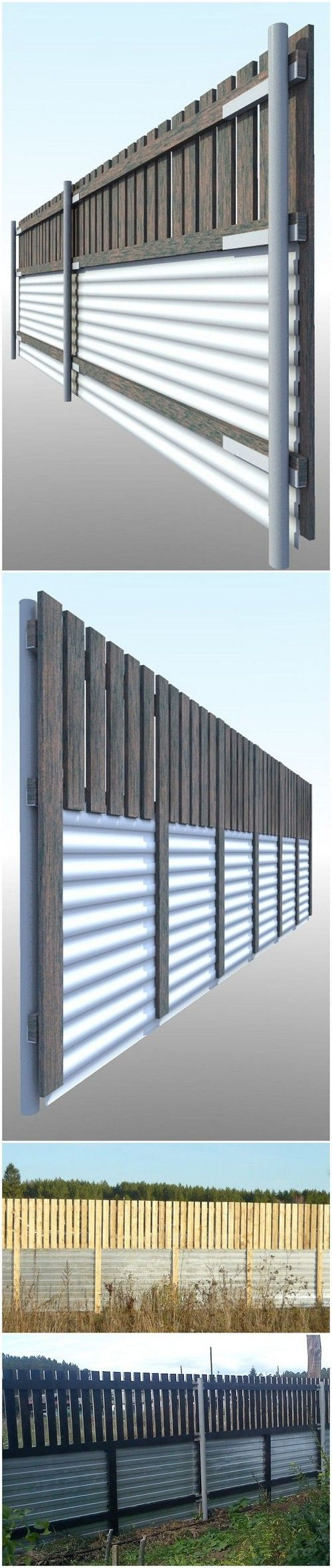 10+ Interesting Ideas of Corrugated Metal Fence DIY in ...